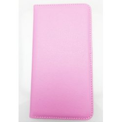 Housse Etui Folio Grainé rose iPhone 6 Plus