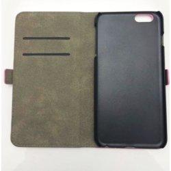 Housse Etui Folio Grainé rose iPhone 6 Plus