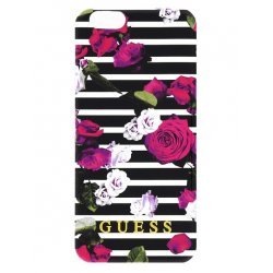 COQUE ARRIERE GUESS motif rose Iphone 6