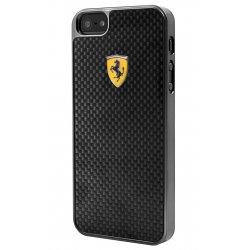 COQUE ARRIERE Ferrari noire en vrai carbone pour iPhone 6 Plus