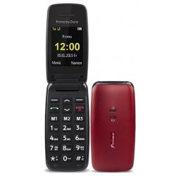 TELEPHONE PORTABLE SENIOR SENIOR PRIMO 401 ROUGE DORO