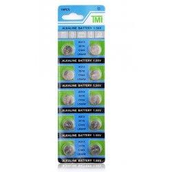 PILES BOUTONS ALCALINE 1,55 VOLT AG 13/357A/CX44/LR44W
