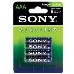 4 PILES ALKALINE 1,5 V AAA LR03 SONY