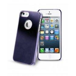 COQUE ARRIERE RIGIDE STAX METALIQUE BLEUE POUR IPHONE 5/5S/SE SOUS BOITE BLISTER
