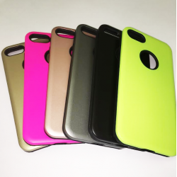 COQUE ARRIERE IPHONE 6/6S RENFORCEE UNIE GRISE