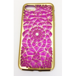 COQUE ARRIERE IPHONE 7 SILICONE STRASS ROSE