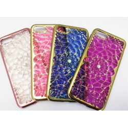 COQUE IPHONE 6/6S/7 GEL SILICONE STRASS VIOLET