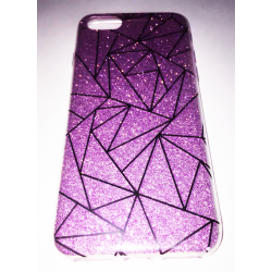 COQUE ARRIERE IPHONE 6/6S PRISME PAILLETTE VIOLET