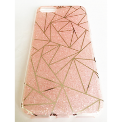 COQUE ARRIERE IPHONE 7 PRISME PAILLETTE ROSE