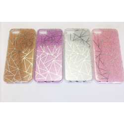 COQUE ARRIERE IPHONE 6/6S PRISME PAILLETTE OR