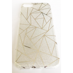 COQUE ARRIERE IPHONE 6/6S PRISME PAILLETTE ARGENT