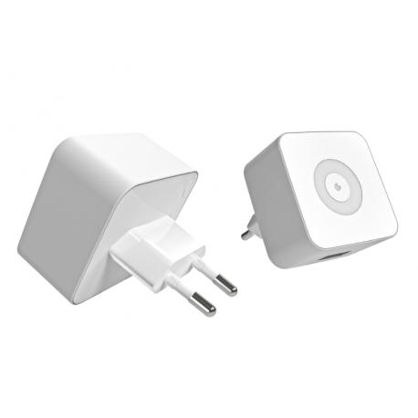 CHARGEUR USB UNIVERSEL MUVIT 1 A BLANC SOUS BOITE BLISTER