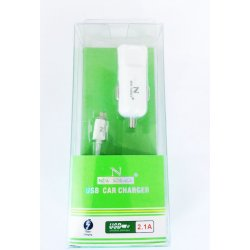 ALLUME CIGARE 2,1 AMPERE BLANC AVEC CABLE LIGHTNING POUR IPHONE X