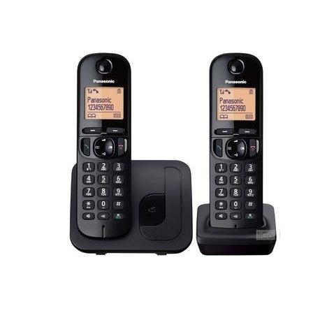TELEPHONE SANS FIL 2 COMBINES PANASONIC KX TGC 212 NOIR
