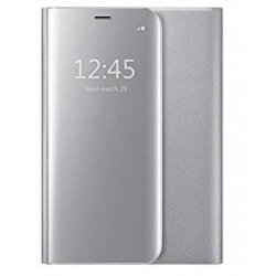 HOUSSE ETUI FOLIO SAMSUNG GALAXY S8 CLEAR VIEW MOXIE MIROIR ARGENT