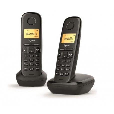 TELEPHONE SANS FIL DECT GIGASET A170 DUO NOIR
