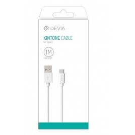 CABLE USB DEVIA TYPE C 1 M BLANC