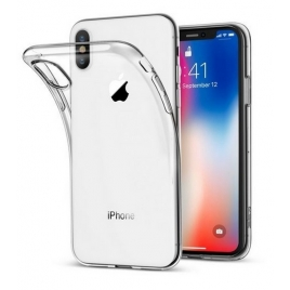 PACK DE 10 COQUES IPHONE X/XS SILICONE SOUPLE TRANSPARENTE