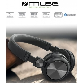 CASQUE BLUETOOTH MUSE M-276 BT STEREO MAINS LIBRES + CABLE USB NOIR