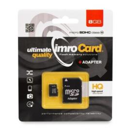 CARTE MEMOIRE IMRO CARD MICRO SDHC 8 GIGA CLASS 10 + SUPPORT SD