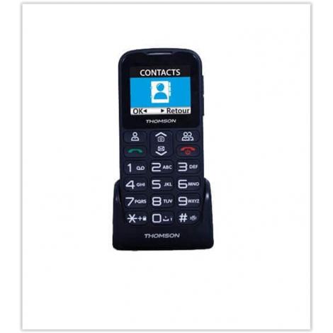 TELEPHONE PORTABLE SENIOR THOMSON SEREA 51 AVEC BASE DE RECHARGE NOIR