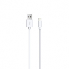 CABLE USB LIGHTNING IPHONE 5 à PRO MAX DEVIA 1A 1 M BLANC