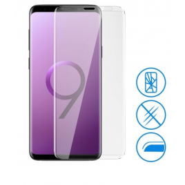 FILM VERRE TREMPE SAMSUNG GALAXY S9+ INCURVE 5D FULL COVER