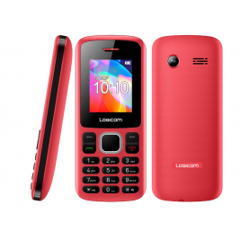 TELEPHONE PORTABLE LOGICOM LE POSH 178 ROUGE