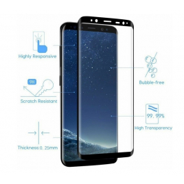 FILM SAMSUNG GALAXY S8 VERRE TREMPE 5D 9 H BORDS NOIRS