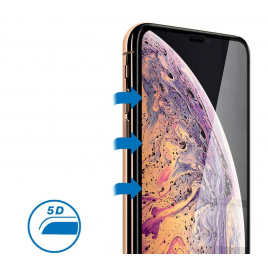 FILM IPHONE XS MAX VERRE TREMPE 9 H BORDS NOIRS