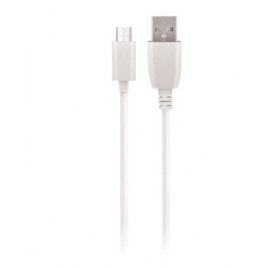 CABLE USB MICRO USB MAXLIFE CHARGE RAPIDE 2A 1 M BLANC SOUS BLISTER