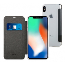 HOUSSE ETUI FOLIO IPHONE XS MAX MUVIT NOIR