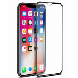 FILM IPHONEX/XS VERRE TREMPE PREMIUM INCURVE BORDS NOIRS