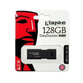CLE USB 128 GIGA KINGSTON DATATRAVELER 100 USB 3.1 NOIRE