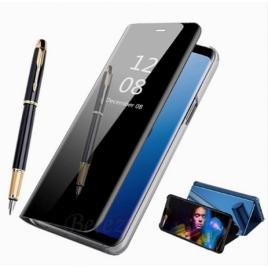 HOUSSE ETUI FOLIO IPHONE 11 PRO MAX 6,5 '' CLEAR VIEW BLEU
