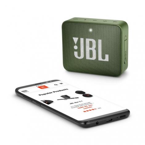 HAUT PARLEUR BLUETOOTH JBL GO2 PORTABLE ETANCHE IPX7 VERT