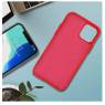 COQUE SILICONE IPHONE 11 6,1 '' SOFT TOUCH SEMI RIGIDE ROUGE SOUS BLISTER