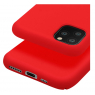 COQUE SILICONE IPHONE 11 PRO 5,8 '' SOFT TOUCH SEMI RIGIDE ROUGE SOUS BLISTER
