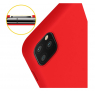 COQUE SILICONE IPHONE 11 PRO MAX 6,5 '' SOFT TOUCH SEMI RIGIDE ROUGE SOUS BLISTER