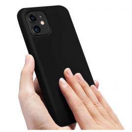 COQUE SILICONE IPHONE 11 PRO MAX 6,5 '' SOFT TOUCH SEMI RIGIDE NOIRE SOUS BLISTER