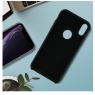 COQUE SILICONE IPHONE XR 6,1 '' SOFT TOUCH SEMI RIGIDE NOIRE SOUS BLISTER