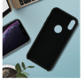 COQUE SILICONE IPHONE X/XS 5,8'' SOFT TOUCH SEMI RIGIDE NOIRE SOUS BLISTER