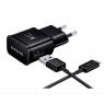 CHARGEUR SECTEUR USB RAPIDE 15 W SAMSUNG + CABLE USB TYPE-C 1,5 M 2A NOIR