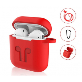 ETUI DE PROTECTION SILICONE POUR AIRPODS ROUGE