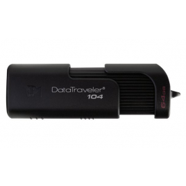 CLE USB 2.0 64 GIGA KINGSTON DATATRAVELLER 104 2.0 NOIRE