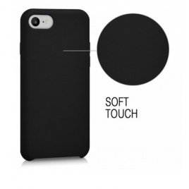 COQUE SILICONE IPHONE 7/8 SOFT TOUCH SEMI RIGIDE NOIRE SOUS BLISTER