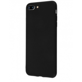 COQUE SILICONE IPHONE 7 PLUS /8 PLUS SOFT TOUCH SEMI RIGIDE NOIRE SOUS BLISTER