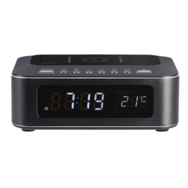 RADIO REVEIL CHARGEUR INDUCTION QI THOMSON CR400IBT + HAUT PARLEUR BLUETOOTH NOIR