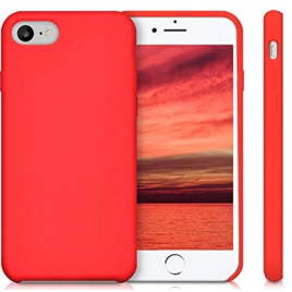 COQUE SILICONE IPHONE 7 PLUS /8 PLUS SOFT TOUCH SEMI RIGIDE ROUGE SOUS BLISTER