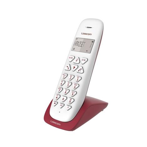 TELEPHONE SANS FIL LOGICOM VEGA 150 MAINS LIBRES FRAMBOISE